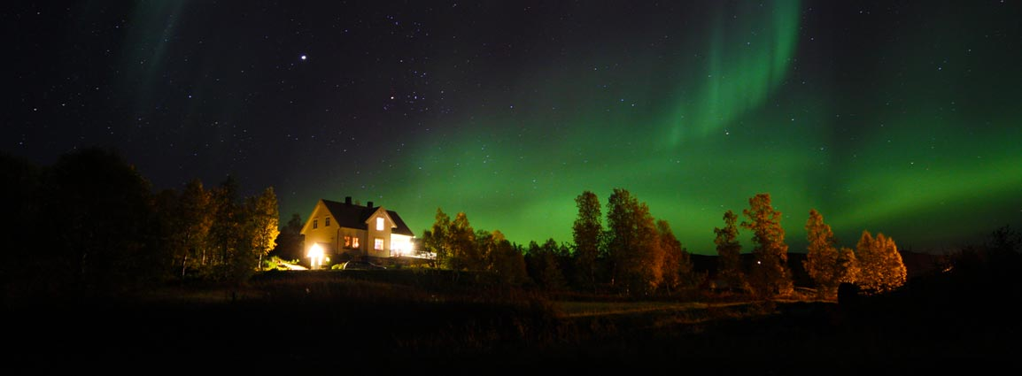 The gentle country of the northern lights