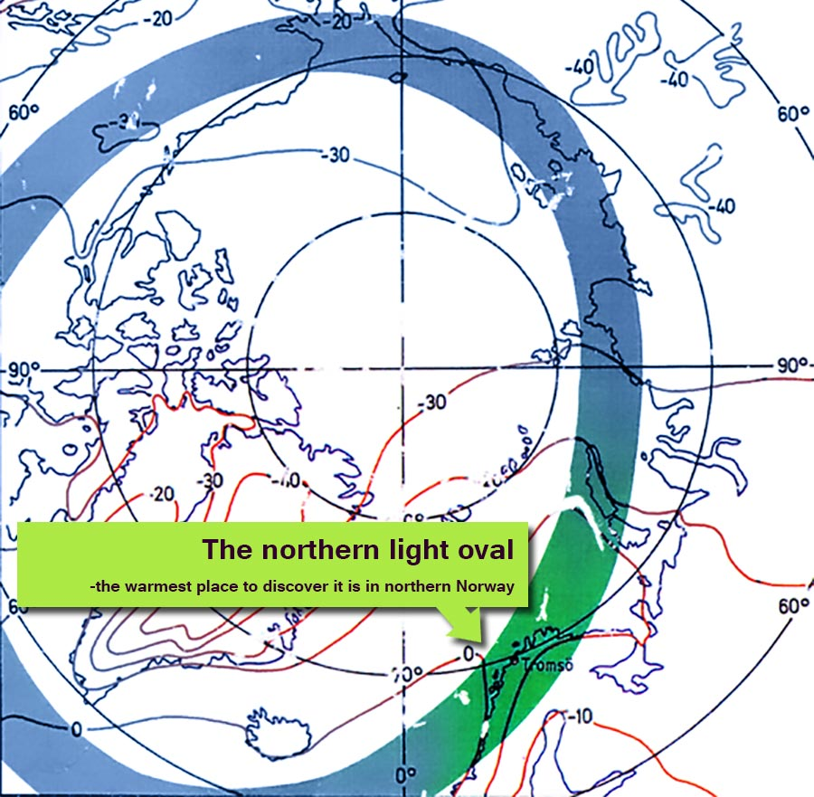 The Gentle Country Of The Northern Lights Bivrost - Norway map northern lights