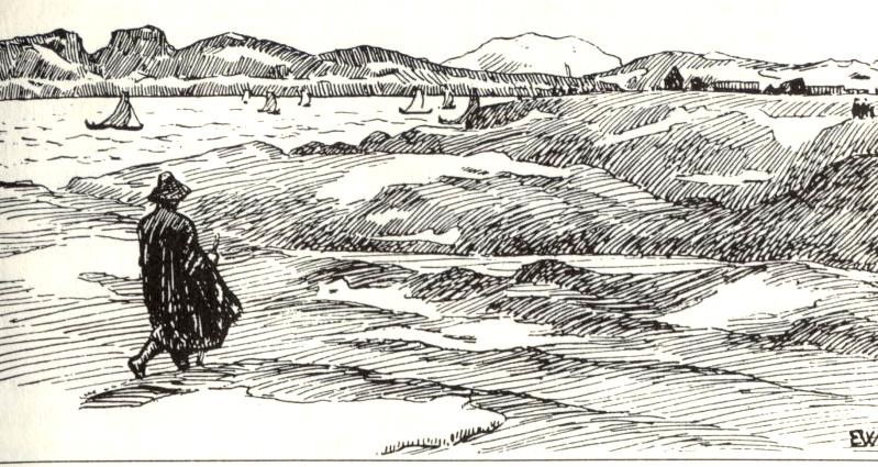 asbjørn-går-mot-kongsgarden-på-Avaldsnes