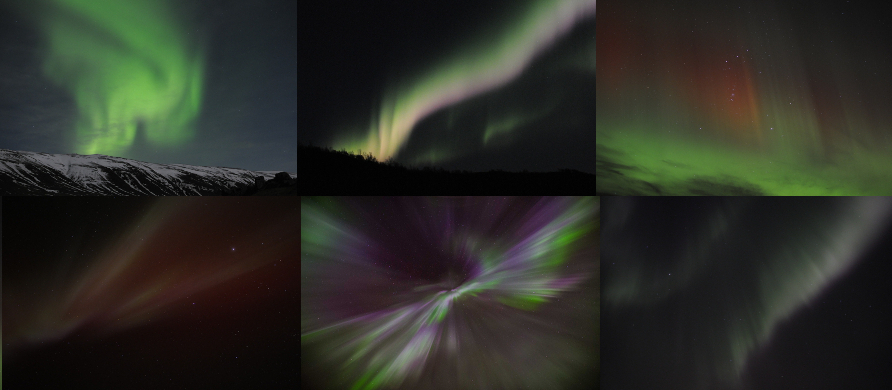The Shimmering Colors of the Aurora